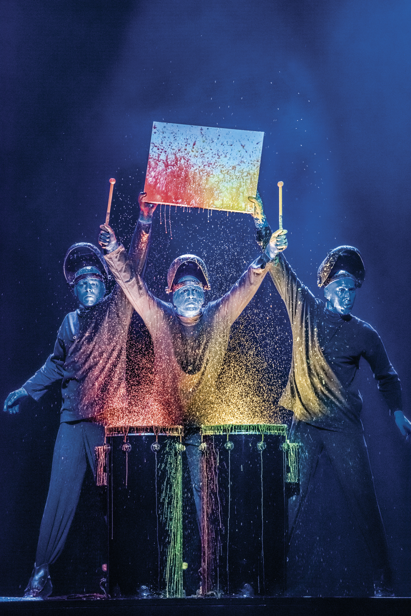 Blue Man Group art