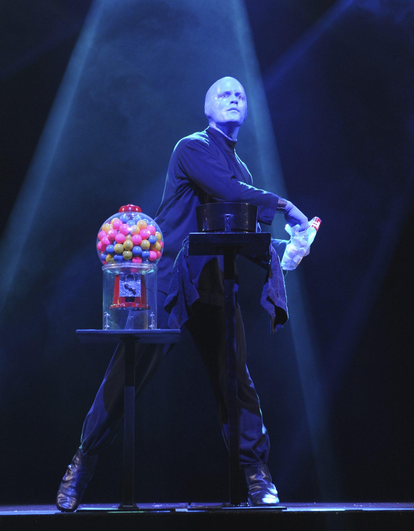 Blue Man Group show kid-friendly