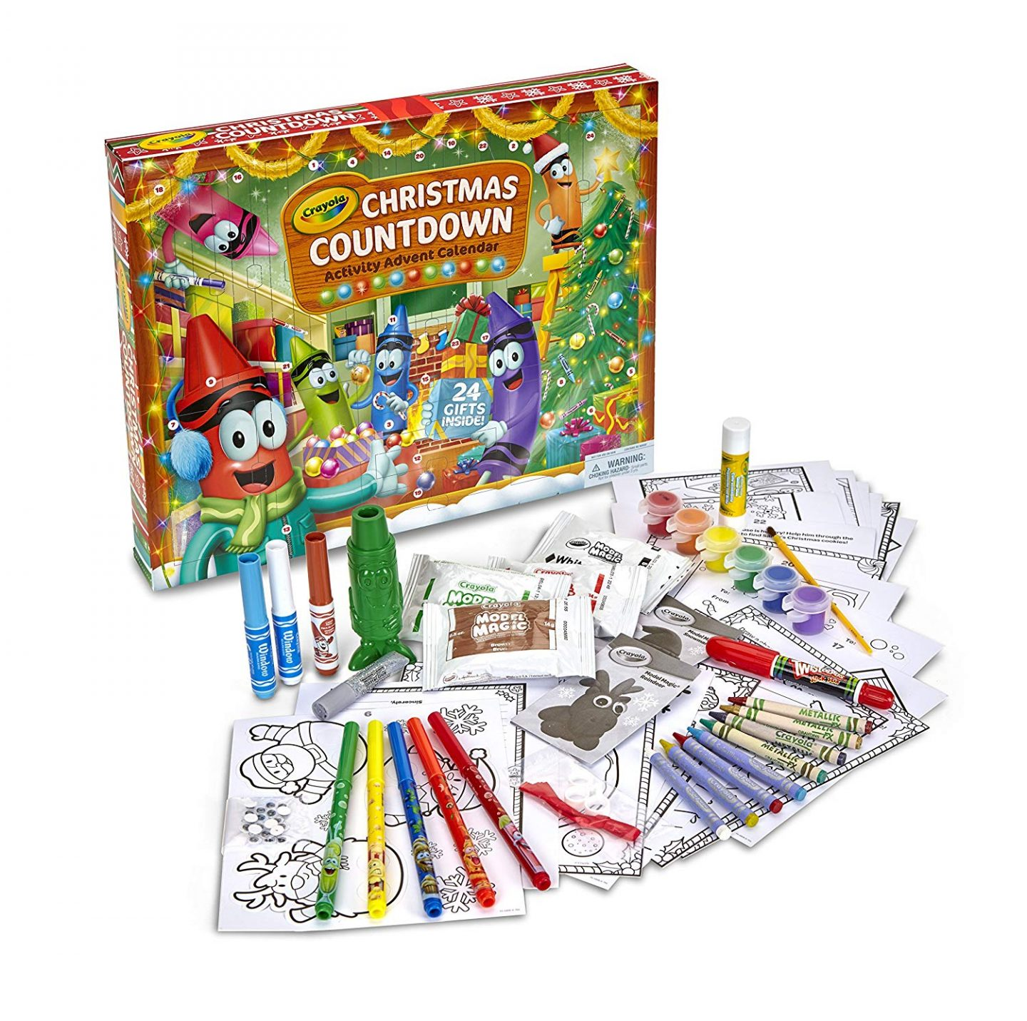 Crayola Holiday Advent Calendar Crafts
