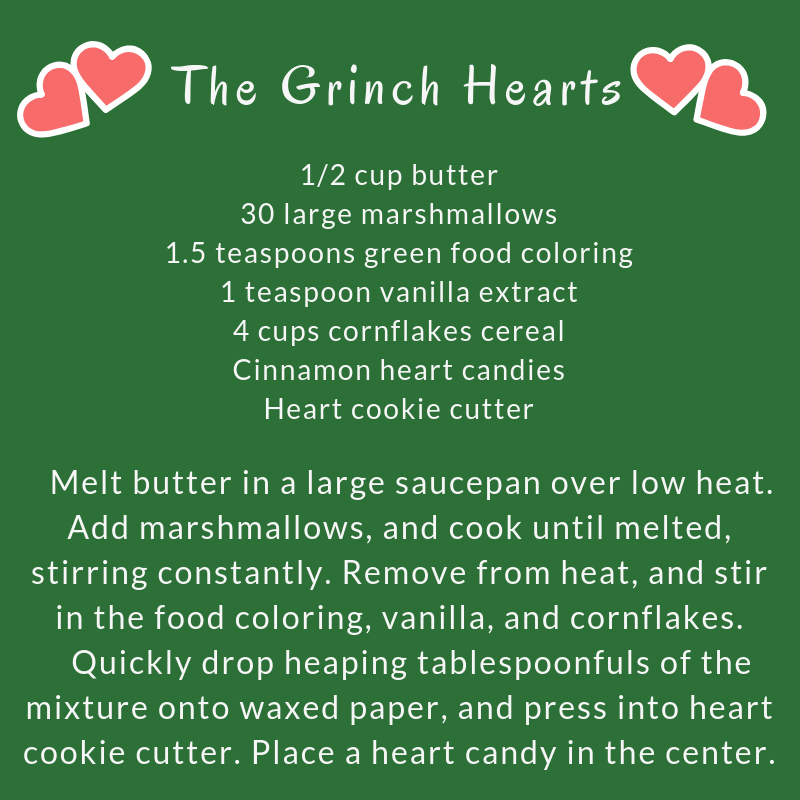 Recipe for Grinch Hearts