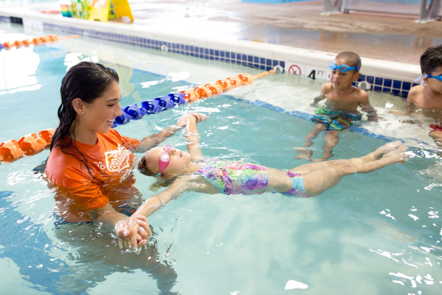 Goldfish Swim School- swim helps combat anxiety