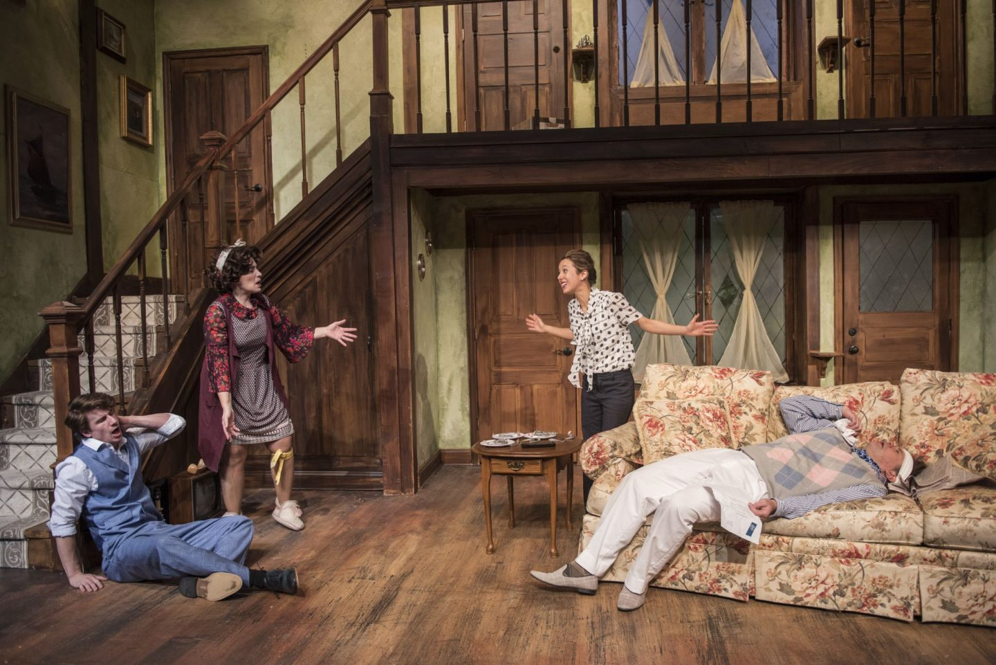 Cast of Noises Off- Windy City Playhouse