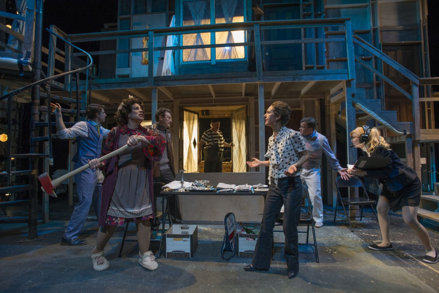 Behind the scenes- Noises Off at Windy City Playhouse