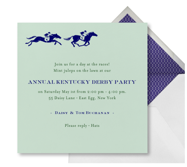 Derby Invitation from Paperless Post