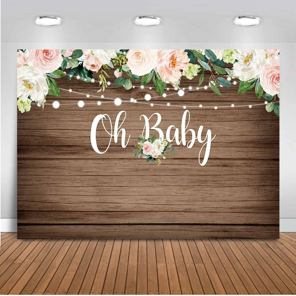 Virtual Baby Shower Backdrop