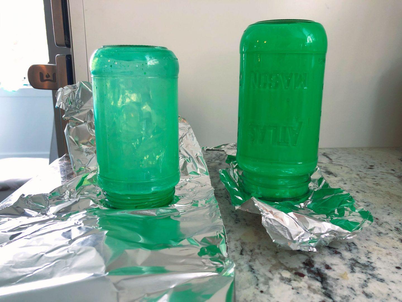 Glass paint- DIY Lantern