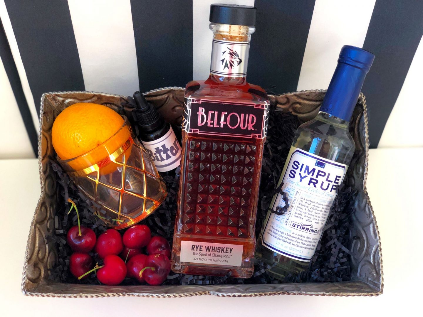 DIY Old Fashioned Kit featuring Belfour Whiskey
