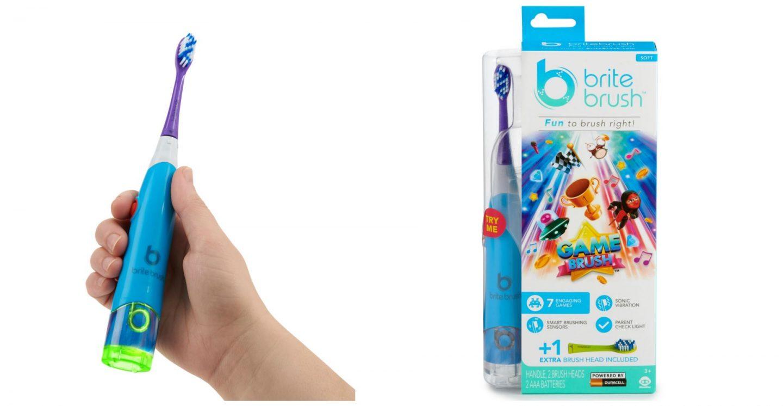 BriteBrush Kids Toothbrush- makes brushing teeth fun!