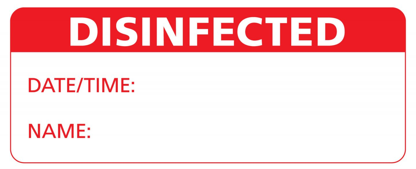 Disinfected Sticker