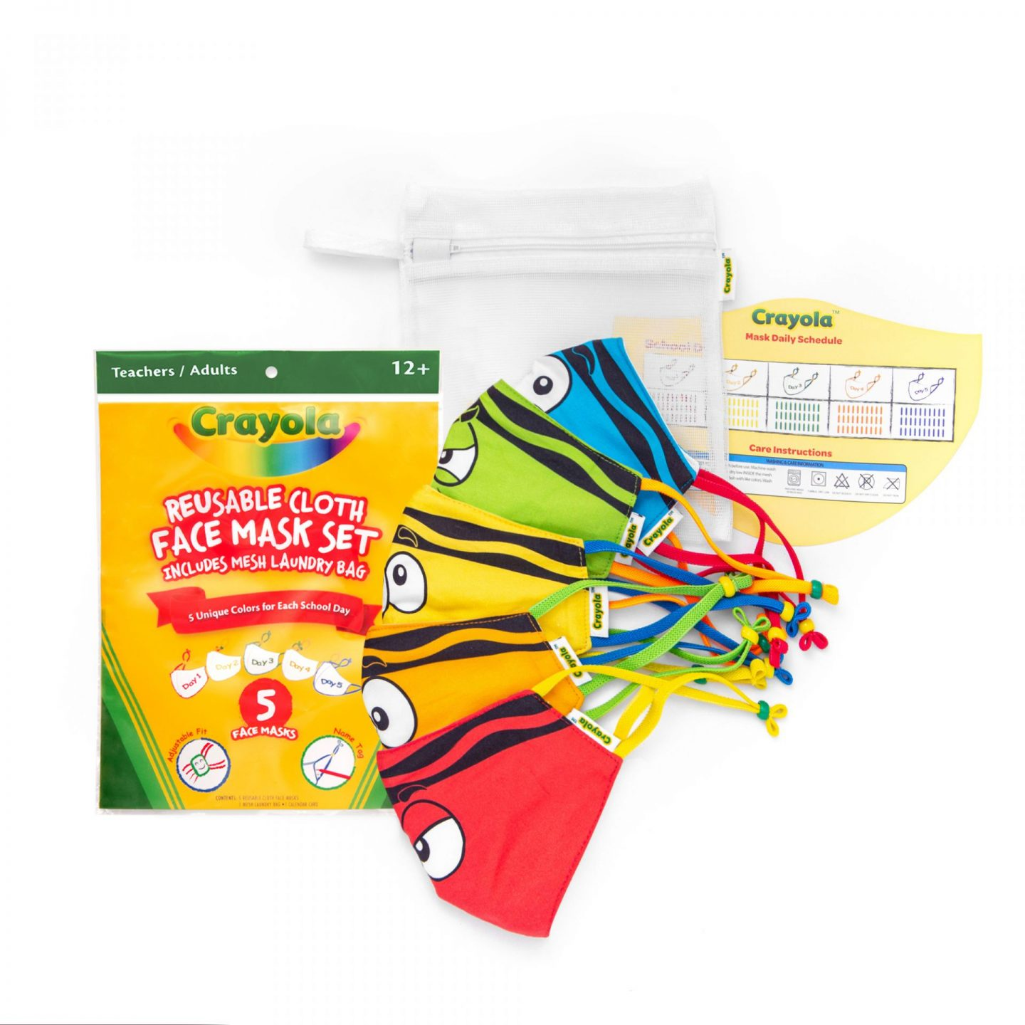 Crayola Reusable Washable Face Mask Set for School