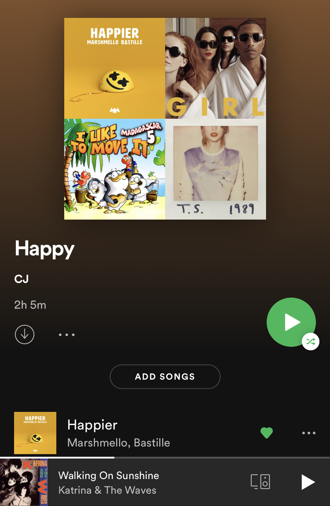 Happy Spotify Playlist