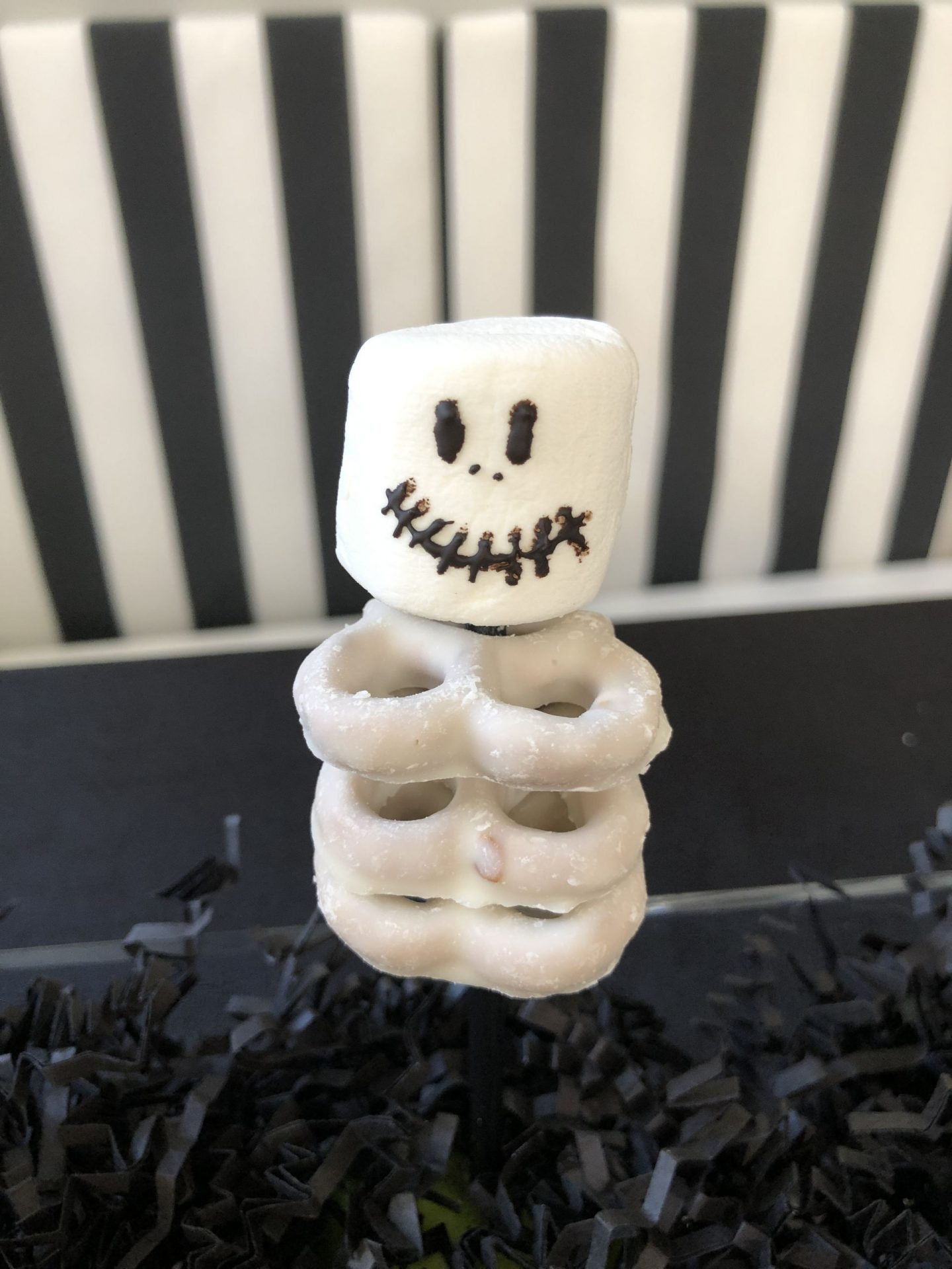 Socially Distant Halloween Treat- Skeleton Dessert