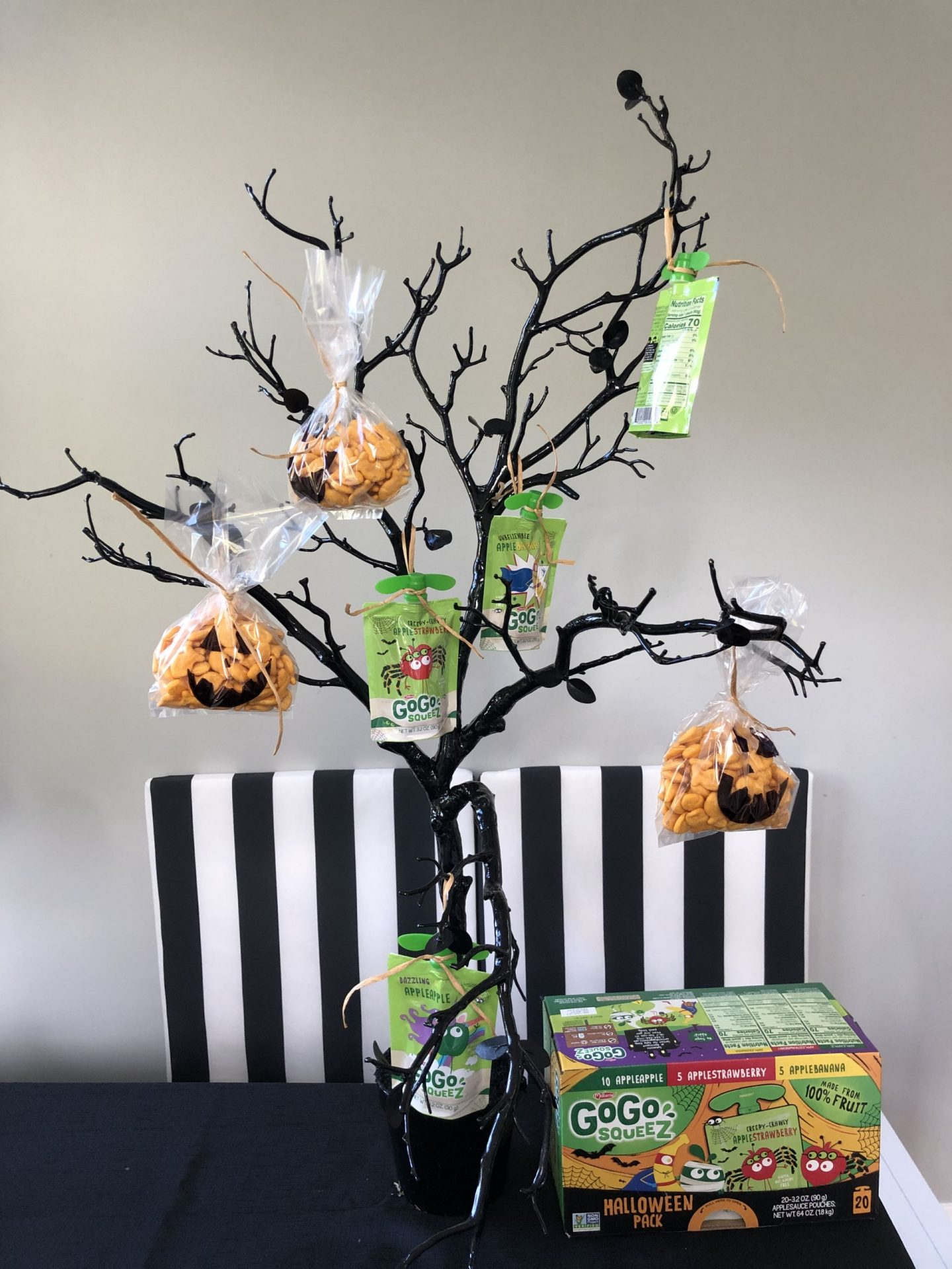 Socially Distant Halloween Party Treat Tree