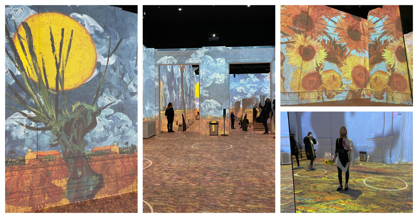 Van Gogh Exhibit- Date night in Chicago