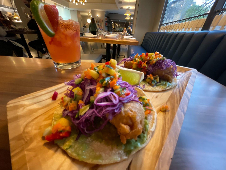 Fish Tacos at Mesa Urbana