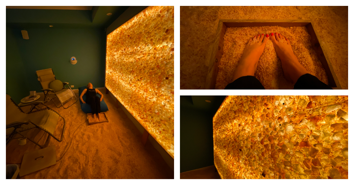 relaxation through salt therapy
